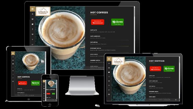 coffes shop website